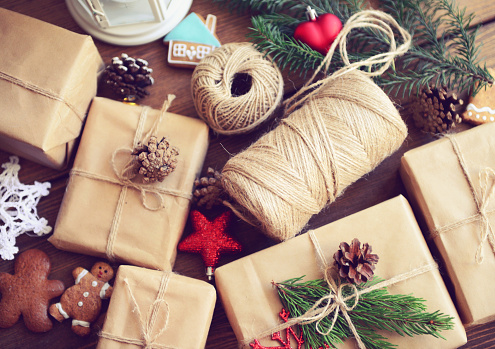 Christmas decor and packages