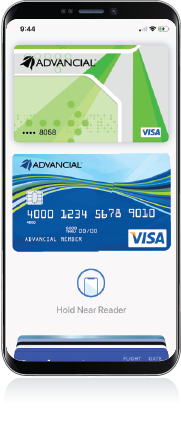 iphone with advancial credit and debit