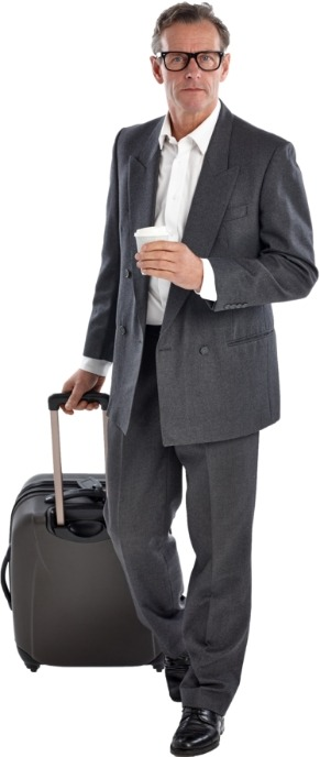 Man traveling with luggage